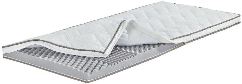 Breckle 7-Zonen Kaltschaum Noppen Topper, Gesamthöhe 5 cm, mit waschbarem Bezug