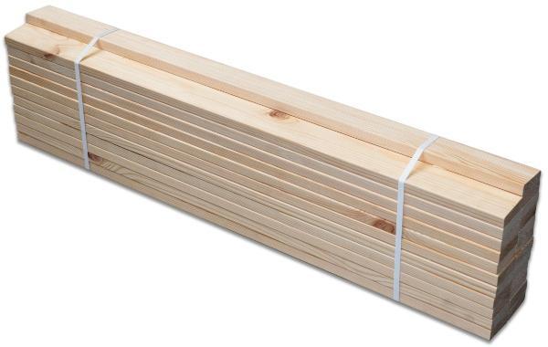 MaDeRa Fichten Rollrost Massives Fichtenholz