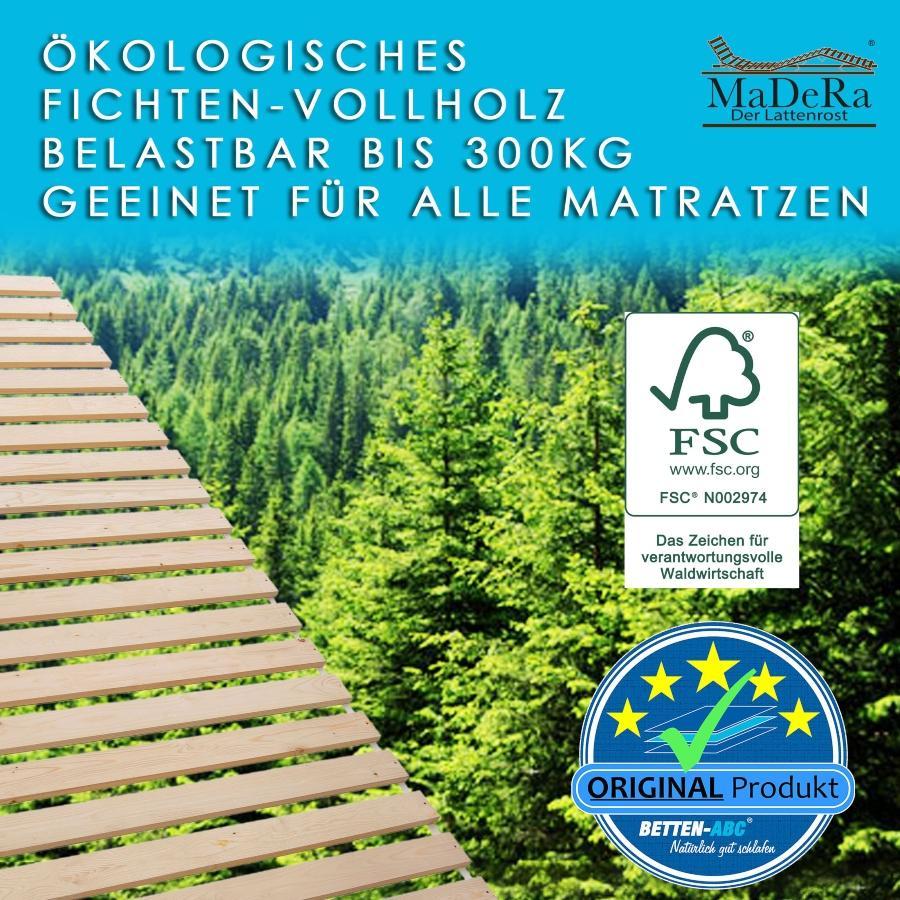 MaDeRa Natura XXL Rollrost Massives Fichtenholz