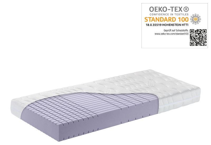 OrthoMatra KSP 3000 Kaltschaum-Matratze mit Wuerfelschnitt und Klimawatte Bezug waschbar