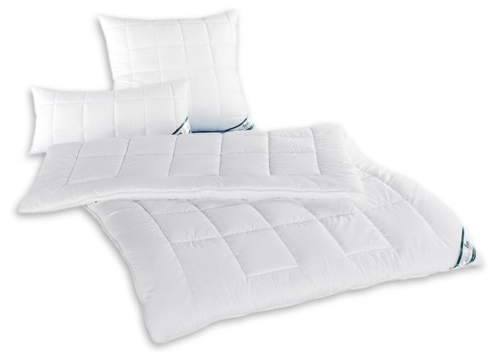 Steppdecken oder Kissen fan Hollofil Dream fuer schnellen Feuchtigkeitstransport Sommerbettdecke