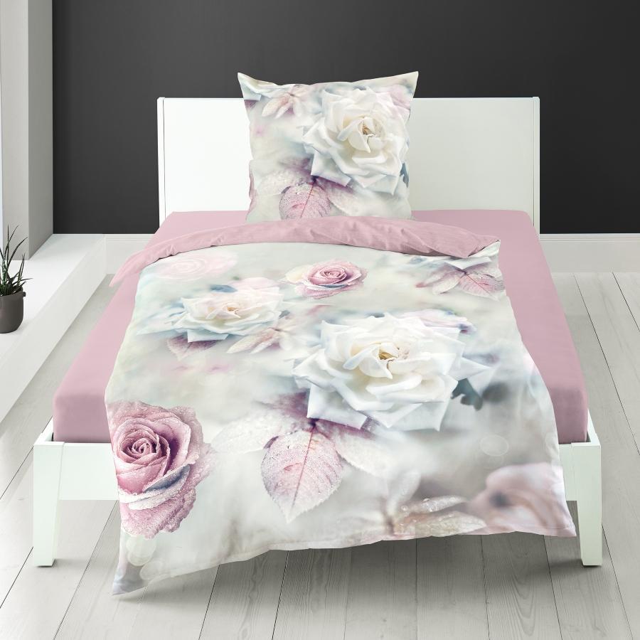 Bierbaum Mako-Satin Bettwaesche Rose