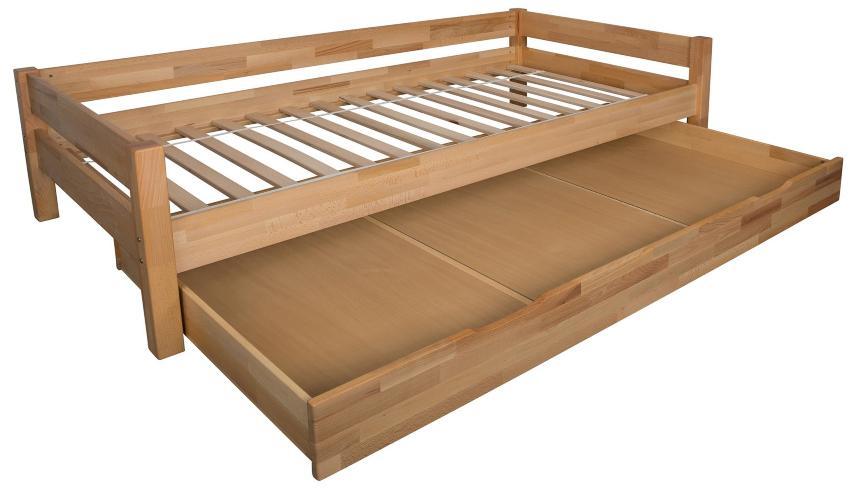 Bubema Duo Bett mit Bettkasten 90x200cm