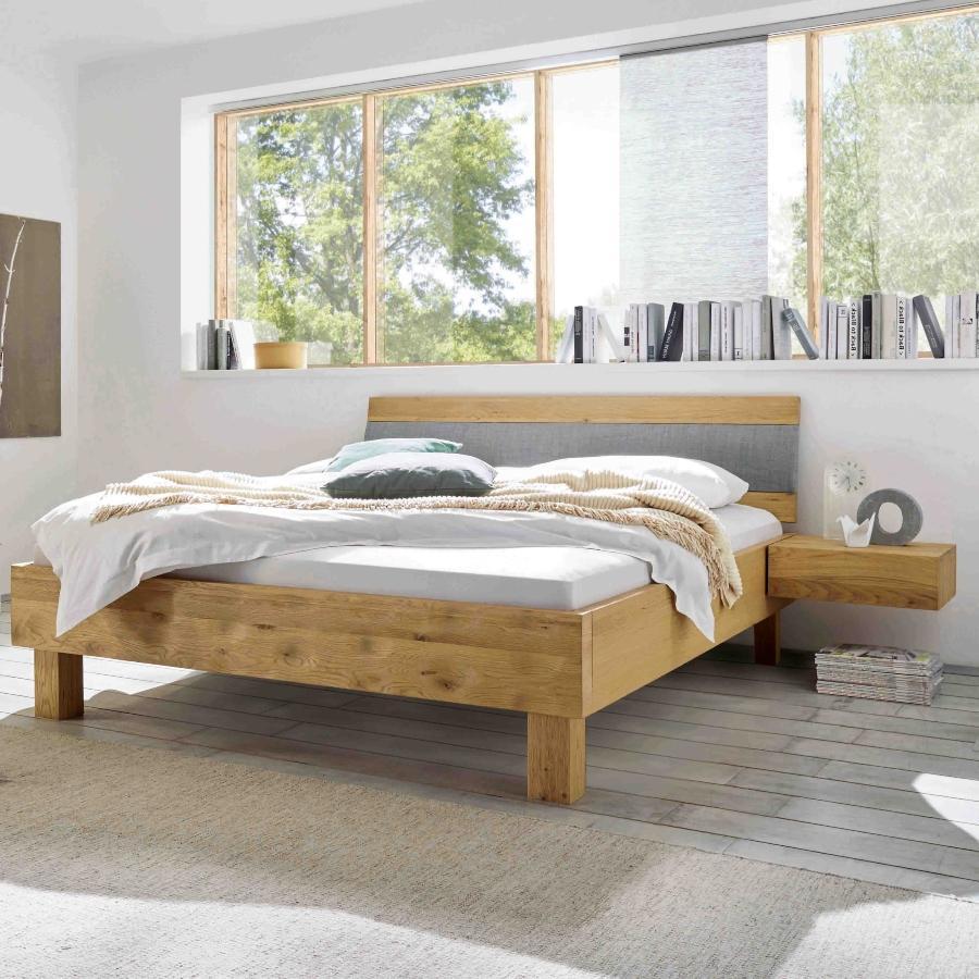 Hasena Bett Oak-Bianco Farbe Eiche natur viele Groessen modernes Design Kopfteil Arico gute-massivholzbetten