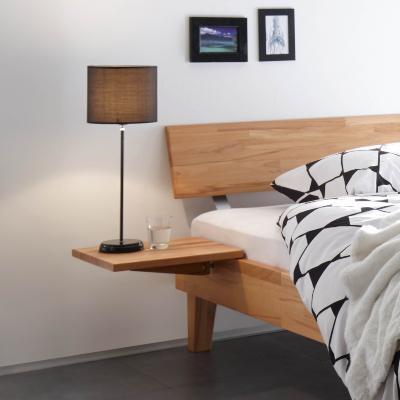 Hasena Nachttisch Mido, zur Montage am Bett, Kernbuche natur geölt, aus der Wood-Line-Serie