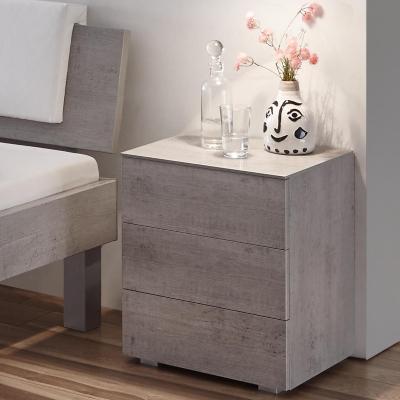 Hasena Nachttisch Triore, Farbe Beto, mit drei Schubladen, aus der Top-Line Serie