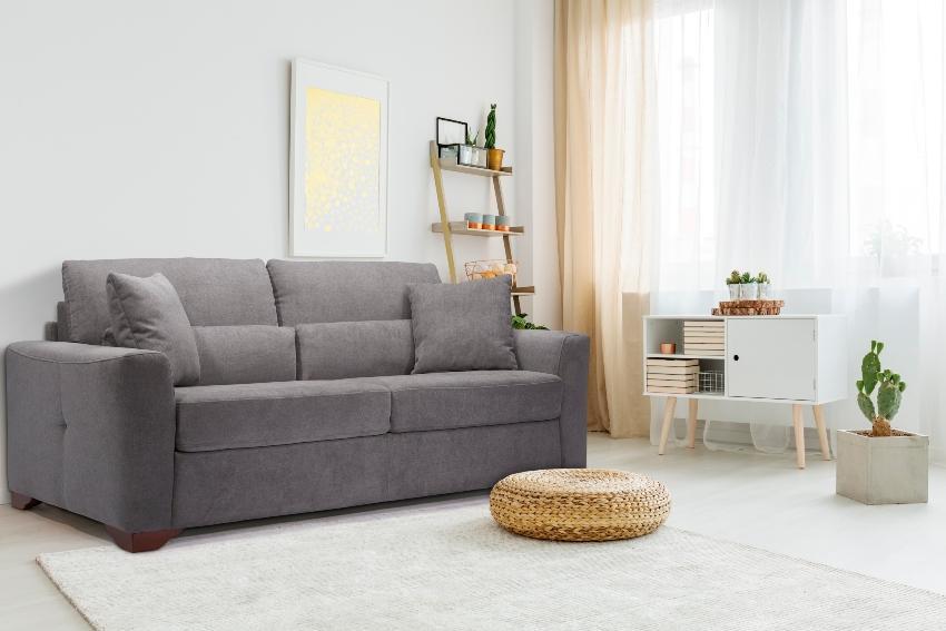Betten-ABC Schlafsofa Modino, inklusive Matratze, Füße aus Massivholz, in modernem Grau