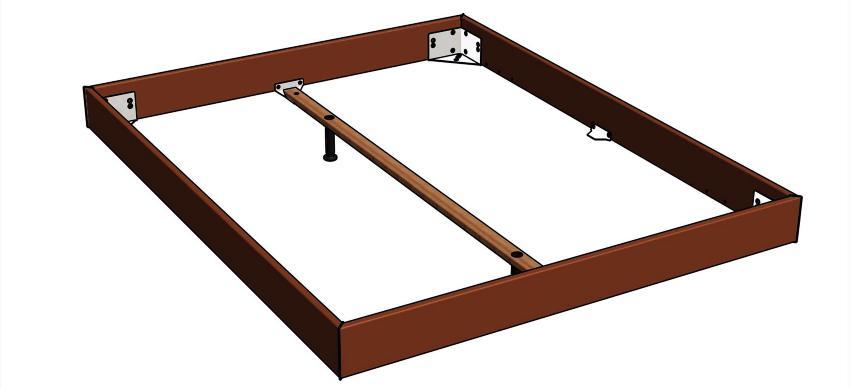 Längstraverse für Hasena Betten Fußhöhe 20-30cm