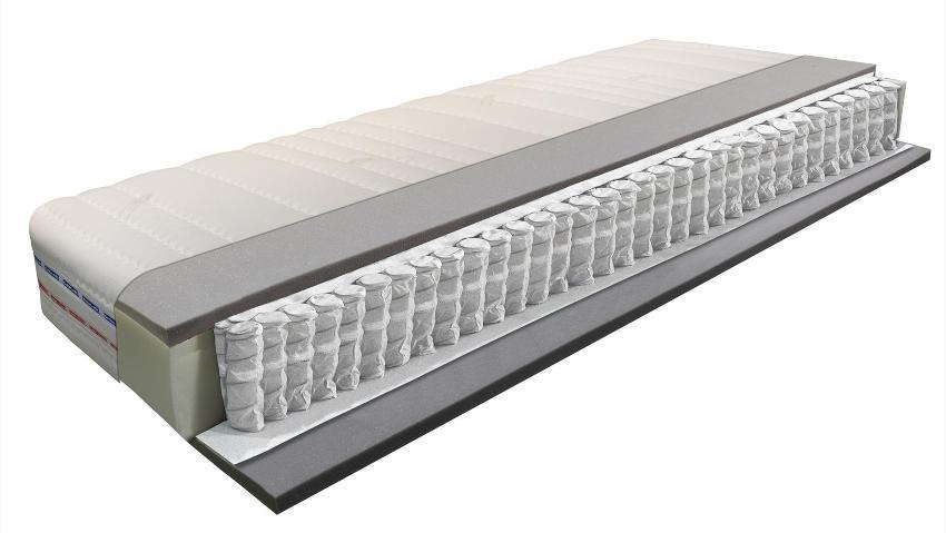 Taschenfederkernmatratze Betten-ABC® OrthoMatra XXL-TFK, 7-Zonen, Härtegrad H4, mit Coolmax-Bezug