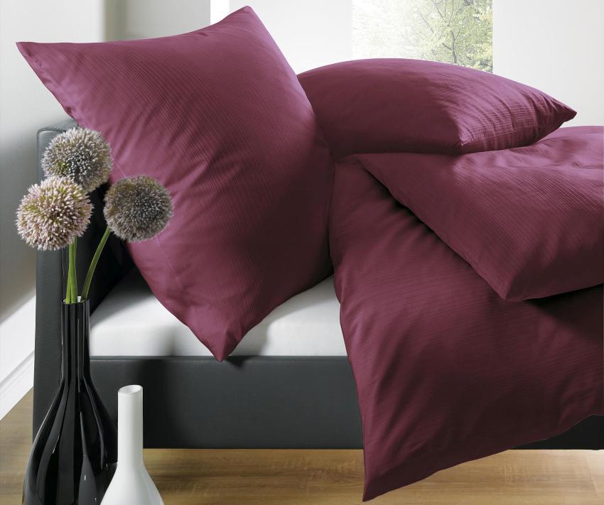 Schlafgut Select Uni-Satin Bettwäsche 2-teilig, 100% Mako-Satin
