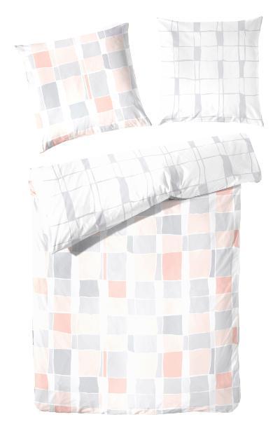 Primera Renforcé-Bettwäsche 2-teilig, modernes Karo-Design, Atmungsaktiv