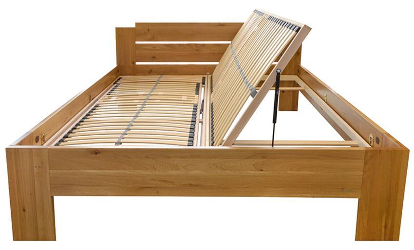 MaDeRa 7-Zonen-Lattenrost mit Bettkastenfunktion, links/rechts, 28 Federleisten, Birkenschichtholz