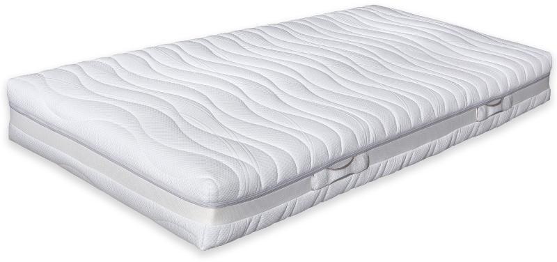 Betten-ABC® OrthoMatra TF 5.0 - Taschenfederkern- Matratze - 7-Zonen-Schnitt mit Silver-Spirit-Bezug Schlafsystem