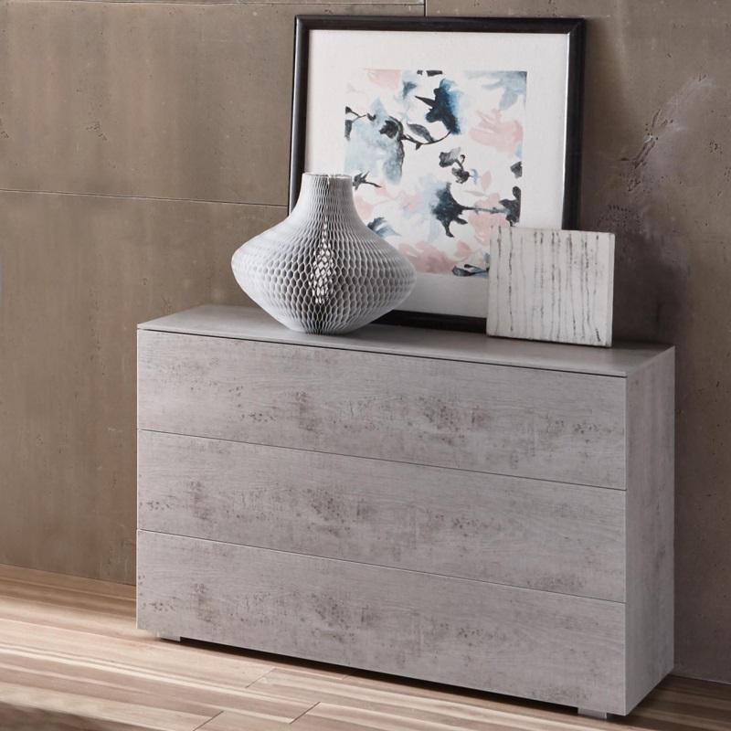 Hasena Kommode Viola, mit drei Schubladen, Farbe Beton, aus der Top-Line Serie