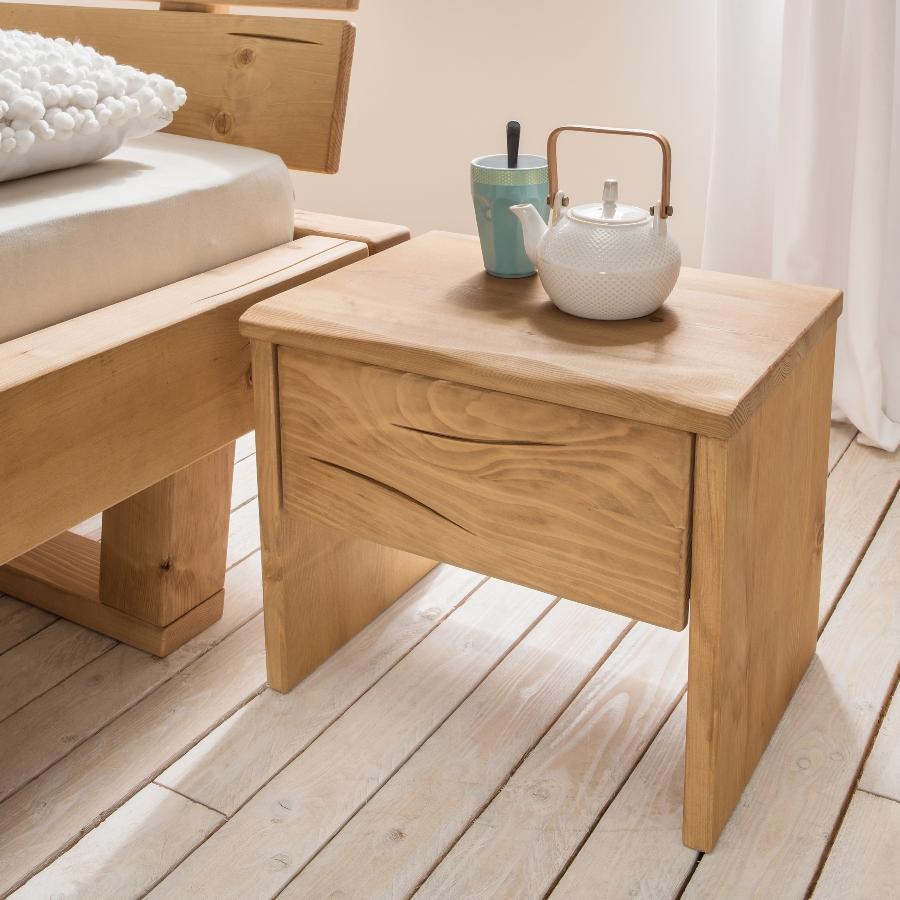 Bubema Nachttisch Mondera, Massivholz mit Schublade