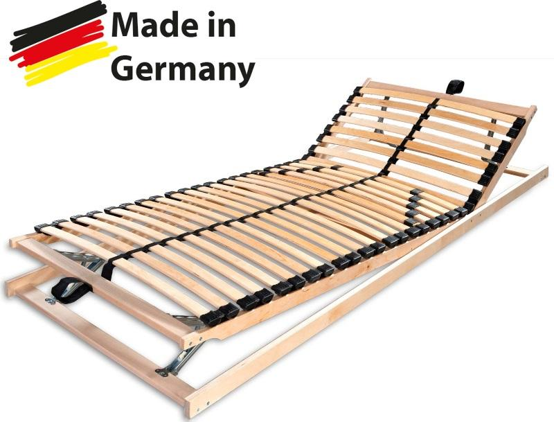 Betten-ABC Max1 K+F, Lattenrost, fertig montiert mit Kopf- und Fußteilverstellung, Holm durchgehend Punktelastizität bei Matratzen