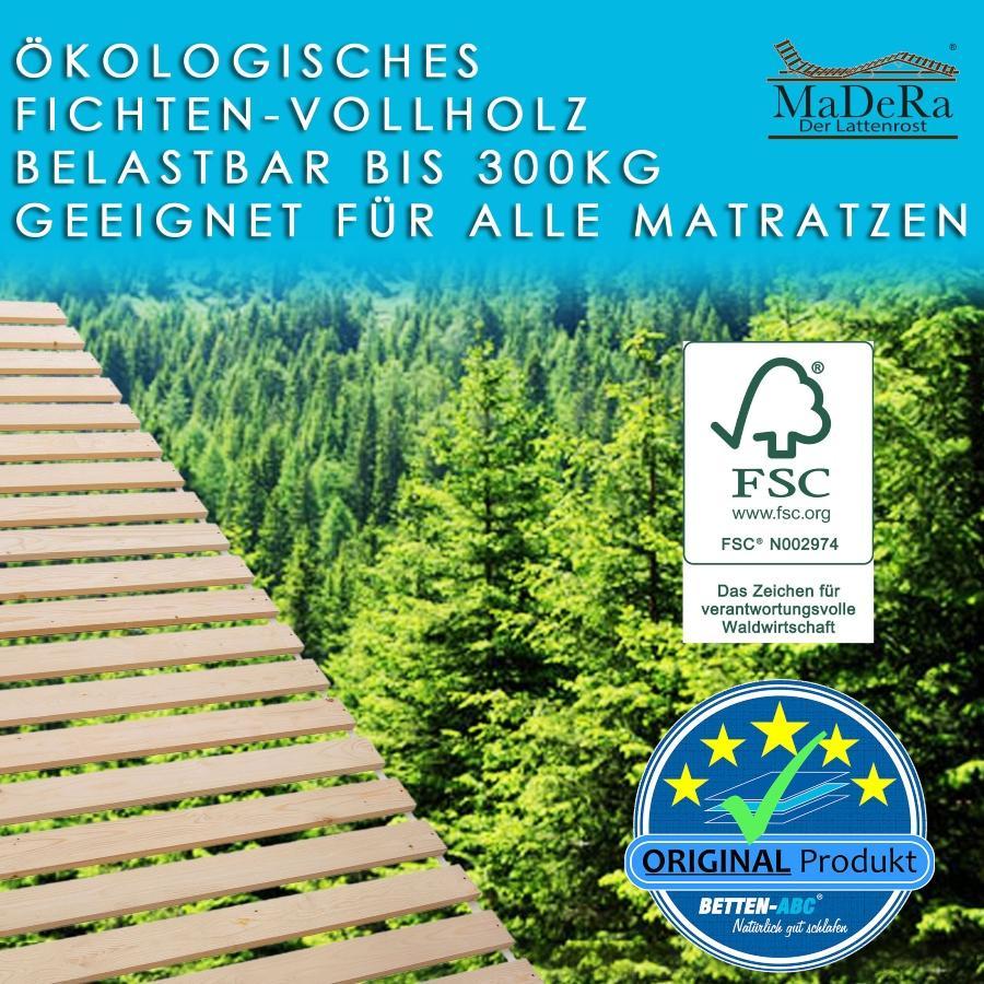 MaDeRa Natura XXL Rollrost Massives Fichtenholz unbehandelt