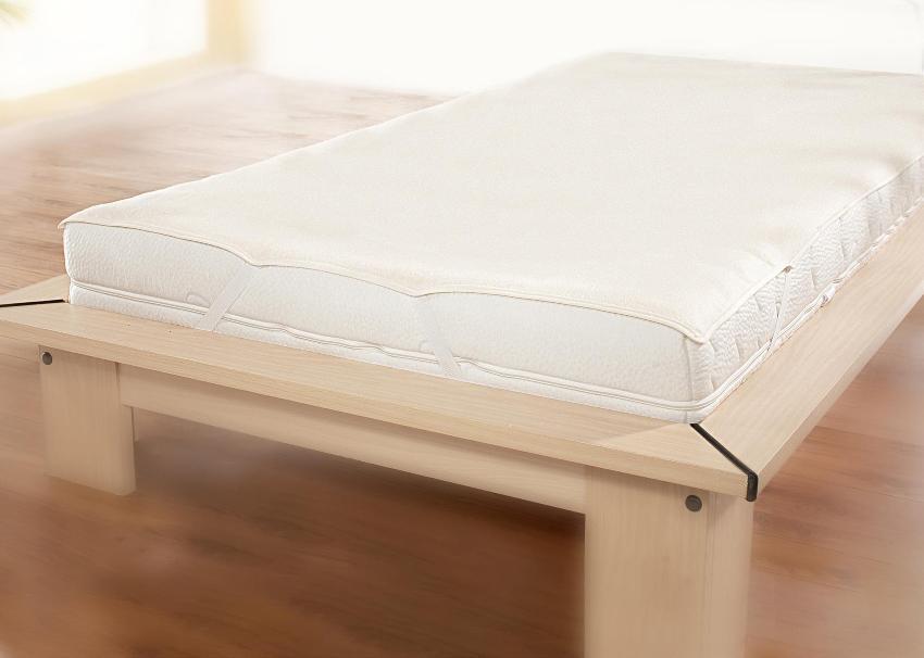 Molton Matratzenauflage wasserdicht PU aus 100% reiner Baumwolle, PU Beschichtung