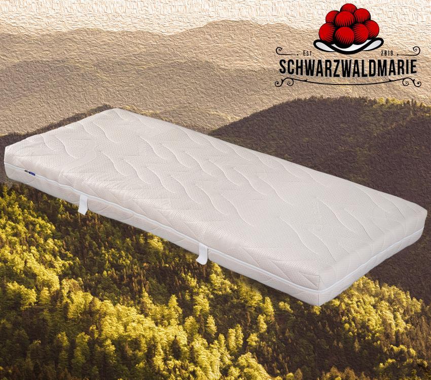 Schwarzwaldmarie Natur, Latexmatratze, 7-Zonen, Bezug waschbar, Made in Germany