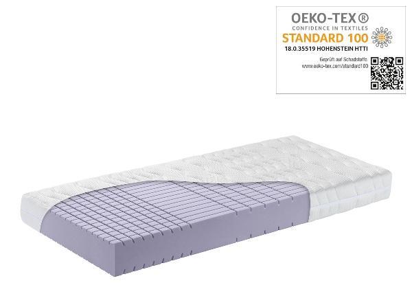 OrthoMatra KSP 3000 Kaltschaum-Matratze mit Wuerfelschnitt und Klimawatte, Bezug waschbar Wirbelsäule entlasten