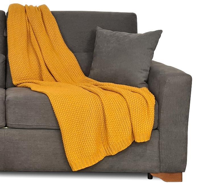 Traumhaft gut schlafen Strickdecke, Kuscheldecke in sechs modernen Uni-Farben