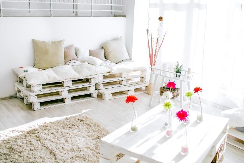 Sofa aus Paletten - Palettenpolster