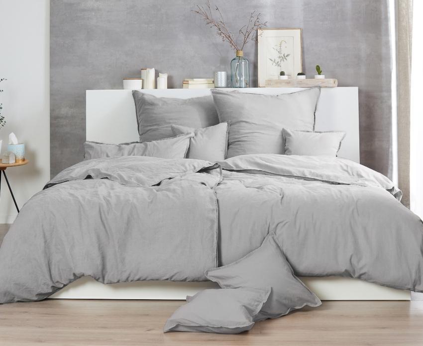 Traumhaft gut schlafen Stone-Washed-Bettwäsche aus 100% Baumwolle