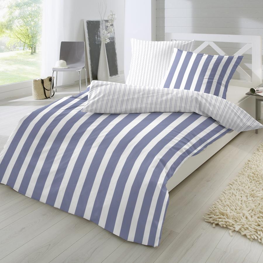 Traumhaft gut schlafen Perkal-Bettwaesche 2-teilig, Blockstreifen, in versch Farben und Groessen schlafzimmermoebel-skandinavisches-design