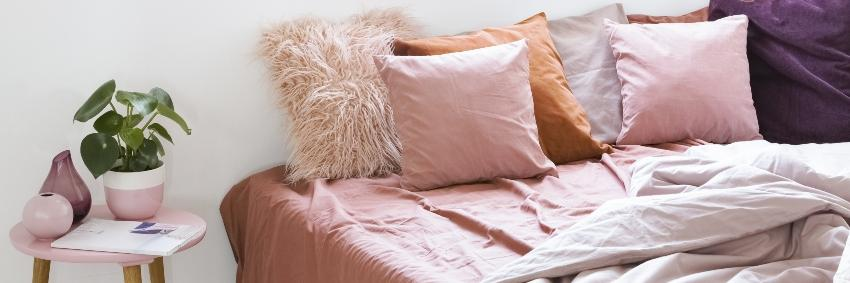 Rosa hautfreundliche Bettwäsche