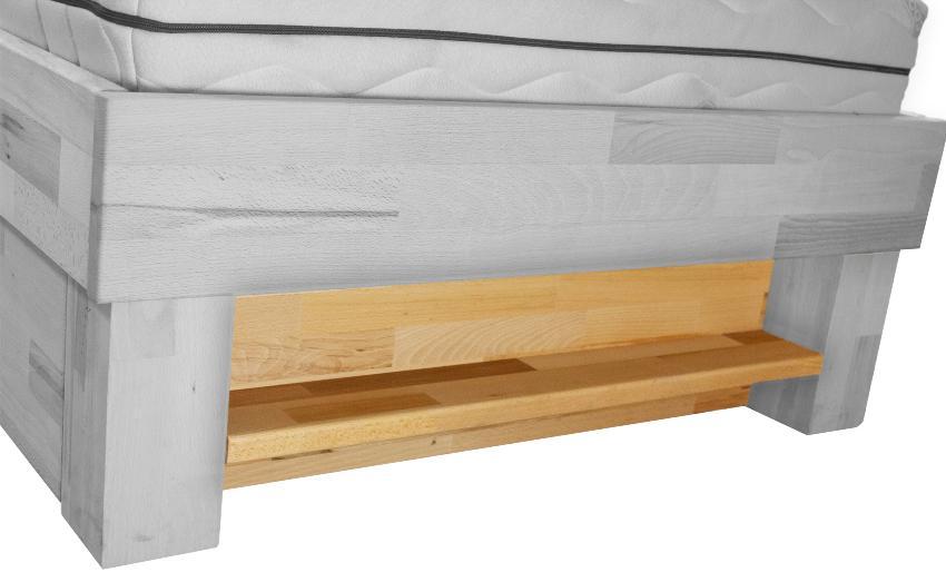 Bubema Bettregal, Kernbuche Massiv passend zum Bett Bubema Juliane Schlaf- und Wohnzimmer in einem kleinen Raum