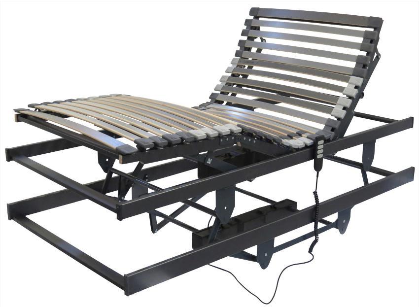 Betten-ABC Lattenrost für Pflegebetten, mit motorischer Kopf- Fußteil und Höhenverstellung optimale Betthöhe