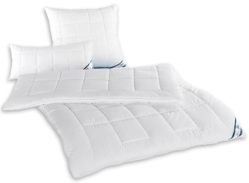 Steppdecken oder Kissen f.a.n. Hollofil Dream für schnellen Feuchtigkeitstransport bis 60°C waschbar