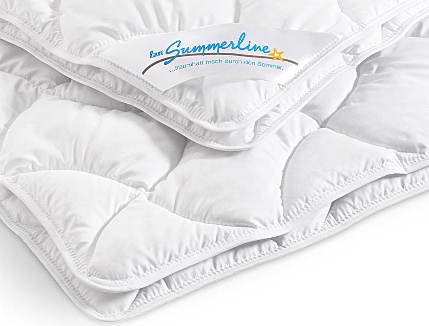 f.a.n. Leicht-Steppbett Summerline Top Cool 135/200 waschbar - Aktion Kühlkorb GRATIS optimale Material für eine Bettdecke