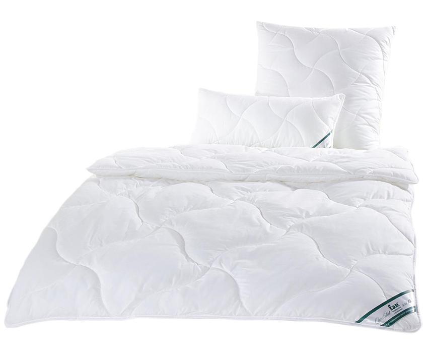 f.a.n. Essential - Hausstaub-Milbenschutz Decke/ Kissen, waschbar und trocknergeeignet optimale Material für eine Bettdecke
