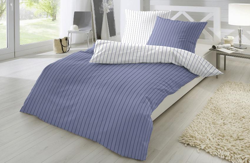 Primera Perkal-Bettwäsche 2-teilig, gestreift, in verschiedenen Farben und Größen erhältlich