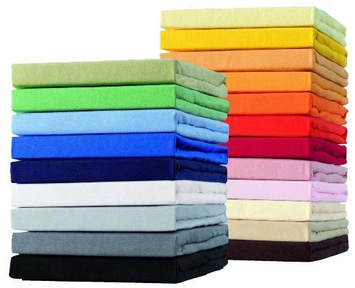 Schlafgut Jersey-Elasthan Spannbetttuch für Matratzen / Wasserbetten bis 220cm und 25 cm Höhe