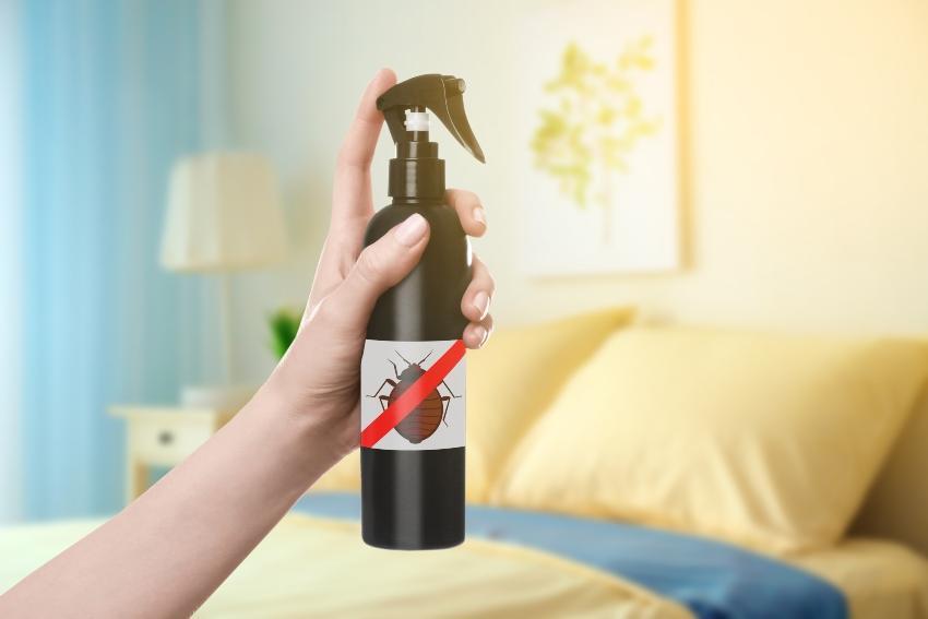 Sprayflasche mit Milbenvernichtungsmittel