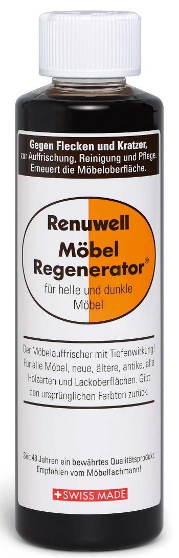 Renuwell Möbel-Regenerator für alle hellen und dunklen Holzarten und Lackoberflächen - Holzmöbel pflegen