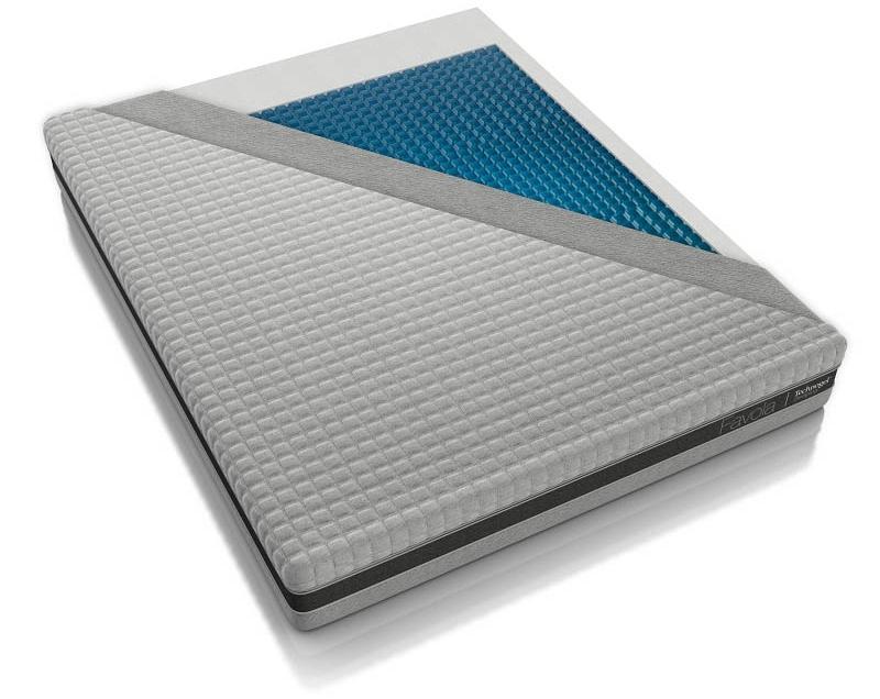 Technogel Matratze Favola mit Gel-Auflage, fest, 25 cm Gesamthöhe, ergonomisches Design - Matratze mit 180x200 cm