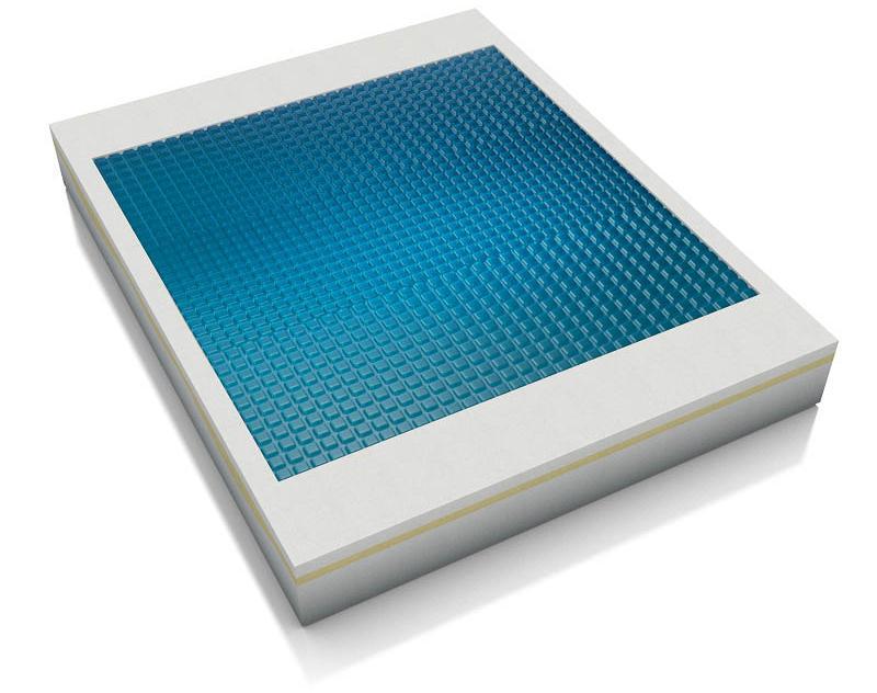 Technogel Matratze Estasi mit Gel-Auflage, soft, 25 cm Gesamthöhe, ergonomisches Design - Gelmatratzen