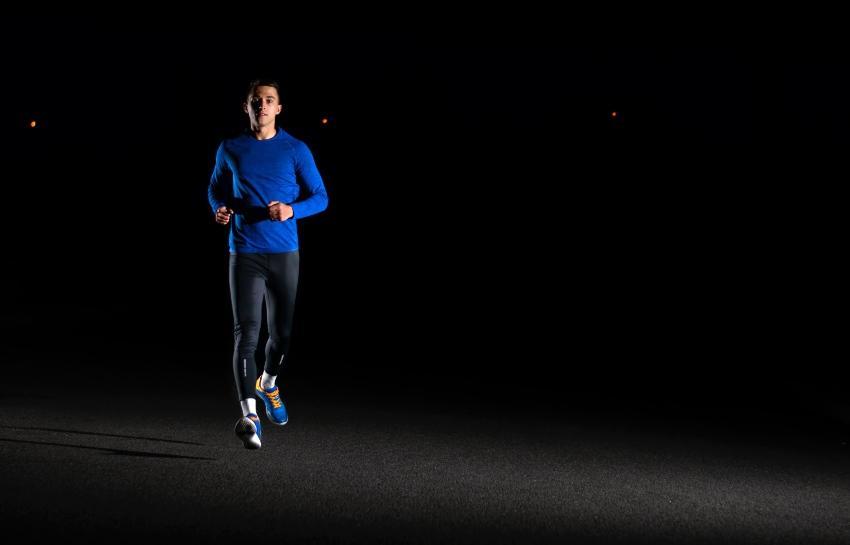 Jogger bei Nacht