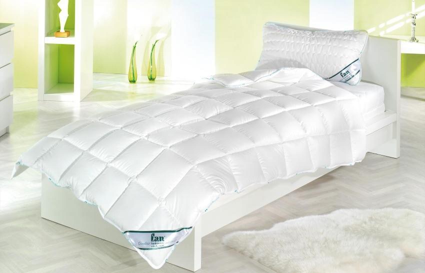 f.a.n. Kissen Medisan, gesteppt, 100% Baumwolle, für Allergiker geeignet, ohne optische Aufheller