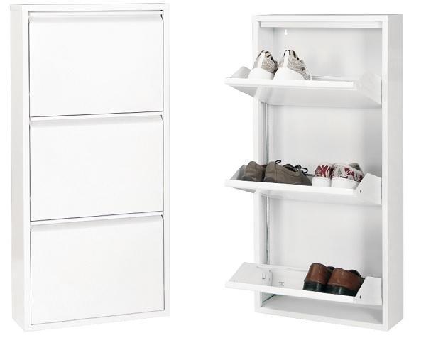 Betten-ABC Schuhschrank Amelie, modern, robust und platzsparend, aus pflegeleichtem Metall
