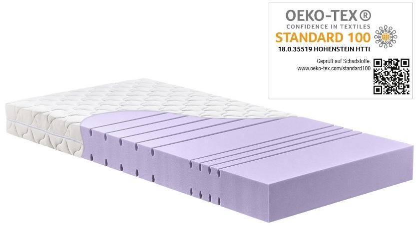 Betten-ABC KSP-1500 Deluxe Kaltschaummatratze mit komfortablen 7 Zonen und Klimafaserbezug