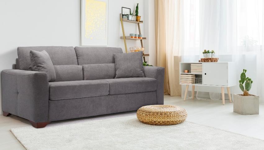 Betten-ABC Schlafsofa Modino, inklusive Matratze, Füße aus Massivholz, in modernem Grau - Schlafzimmerausstattung