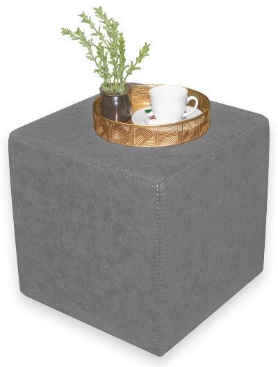 Betten-ABC Kubi Sitzwürfel, mit Polsterstoff, mit Kunststofffüßen, in fünf Farben