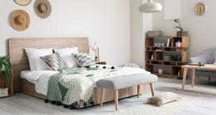 Schlafzimmer mit Schlafzimmerausstattung