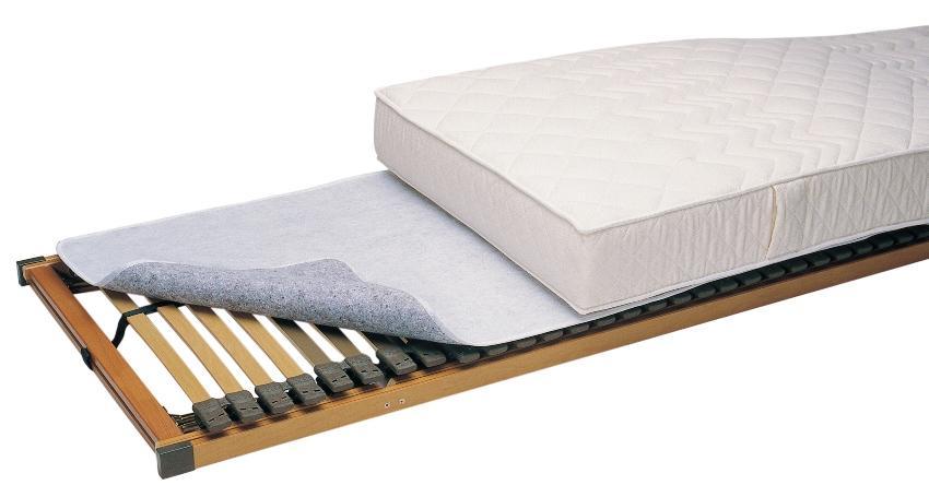 f.a.n. Thermofill-Matratzenschoner als Auflage zwischen Lattenrost und Matratze
