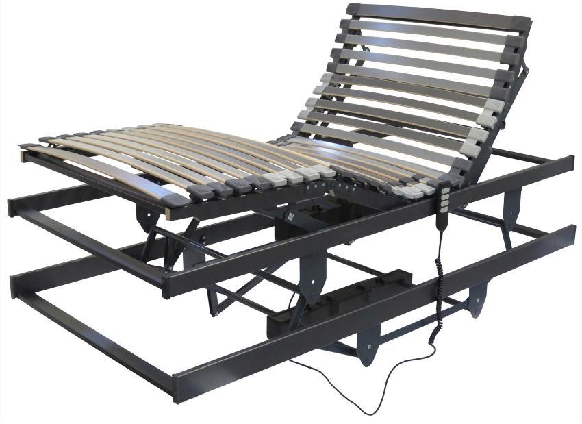 Betten-ABC Lattenrost für Pflegebetten, mit motorischer Kopf- Fußteil und Höhenverstellung