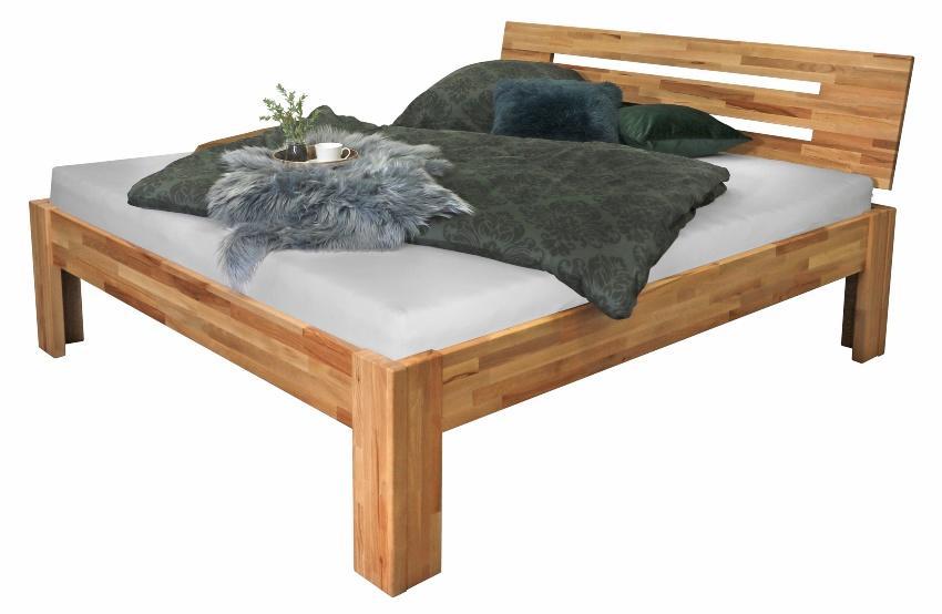 Bubema-SOLO Kernbuche-Bett massiv natur, bio-geölt
